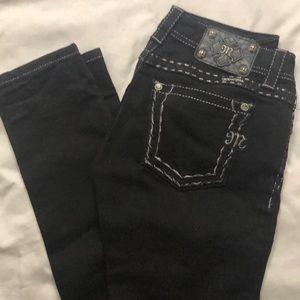 Miss Me Black Skinny Jeans Size 27